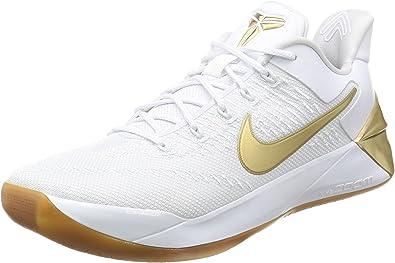 Amazon Com Nike Men S Kobe A D White Metallic Gold 852425 107 Size 9 Shoes