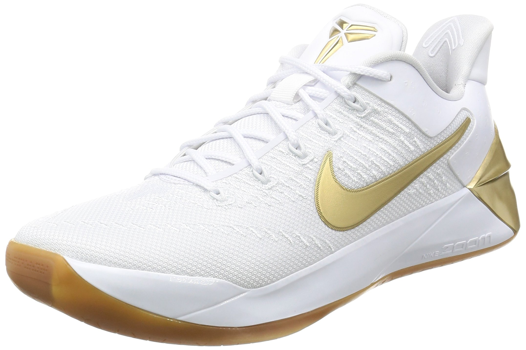low priced 4cfa1 9088c Nike Mens Kobe A.D. Basketball Shoes White/Metallic Gold 852425-107 Size 9
