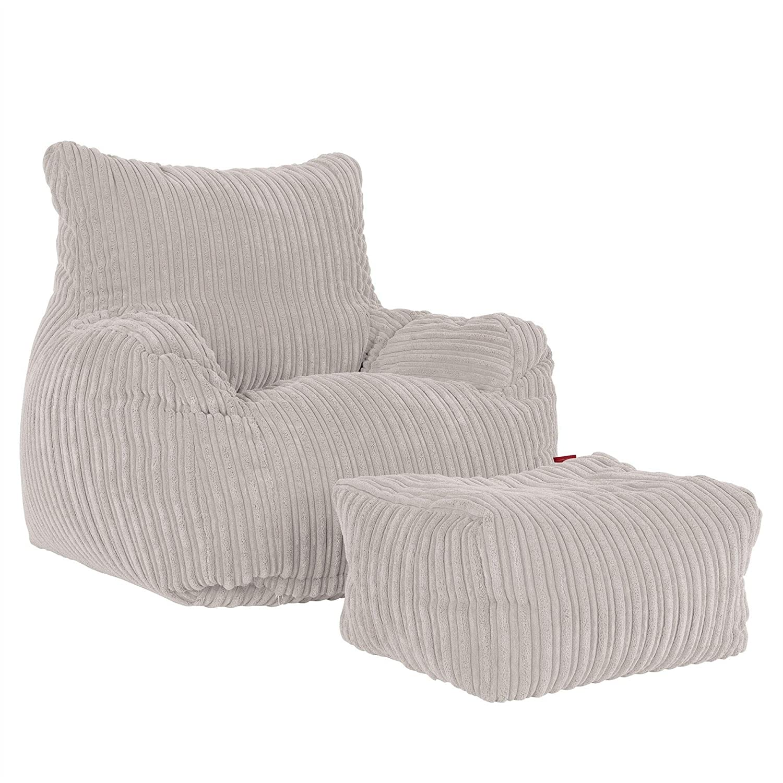 Lounge Pug Panna Poltrona Sacco Pouf Corda Classica