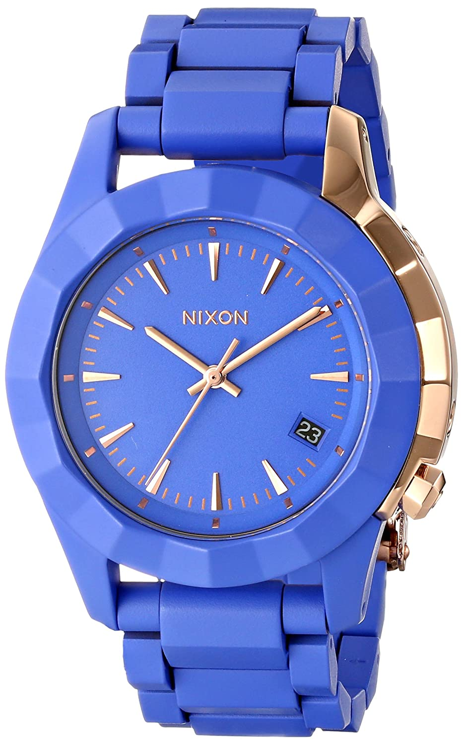 Nixon Women s A2881675-00 Monarch Japanese Quartz Blue Watch