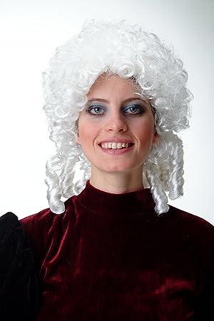 WIG ME UP ® - 91203-ZA62 Peluca Hombres Mujeres Carnaval Halloween Barroco Renacimiento ringlets