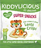 Kiddylicious Sour Cream and Onion Lentil Crisps, 12 g, Pack of 9
