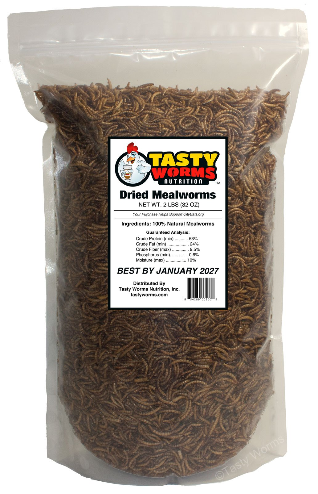 2 Lbs (32oz) Freeze Dried Mealworms Approximately 32,000 Mealworms
