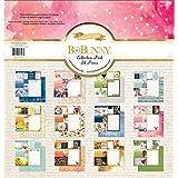 "Bo Bunny 18916198 Collection Pack, 12"" x 12"", Calendar Girl, January Through December, Multicolor"