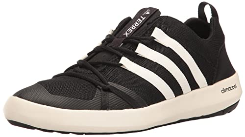 adidas outdoor Men's Terrex Climacool Boat Water Shoe, Chalk WhiteBlack, 9.5 M US