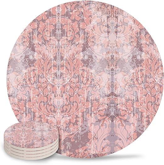 Posavasos de cerámica, clásico barroco, diseño floral