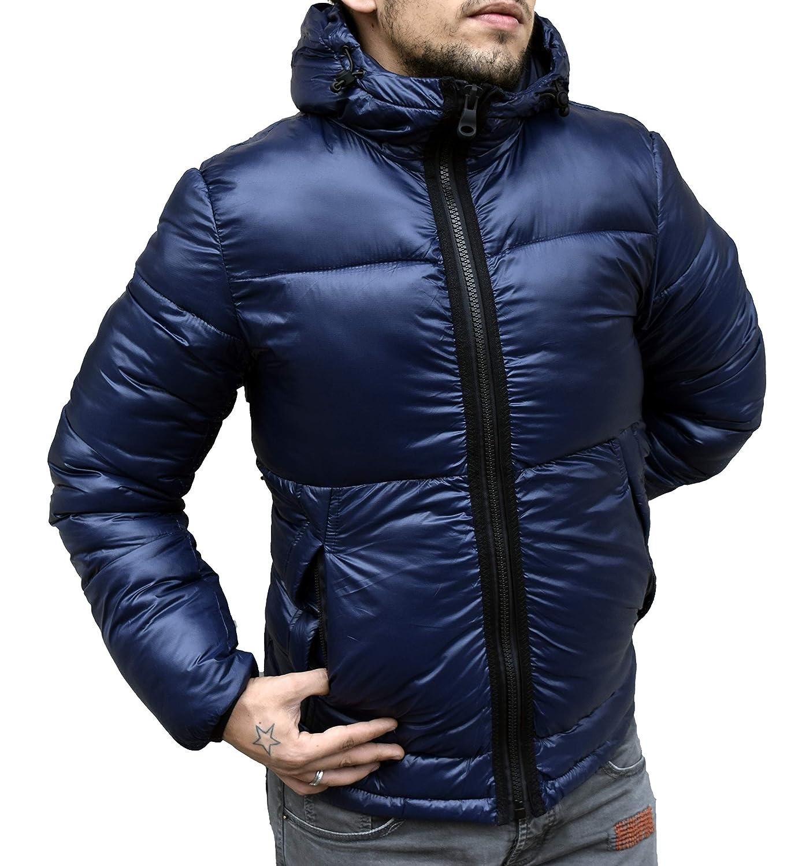 Antony Morale Giubbotto Parka Uomo Invernale Cappuccio - Bomber - Giacca Giubbotto Invernale – con Cappuccio – Trapuntato – Stile Street – da Uomo 4D4
