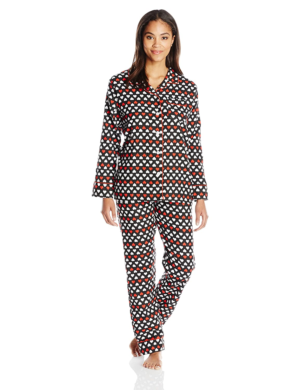 1881db78edd Bottoms Out Women s Flannel Printed Pajama Set at Amazon Women s Clothing  store