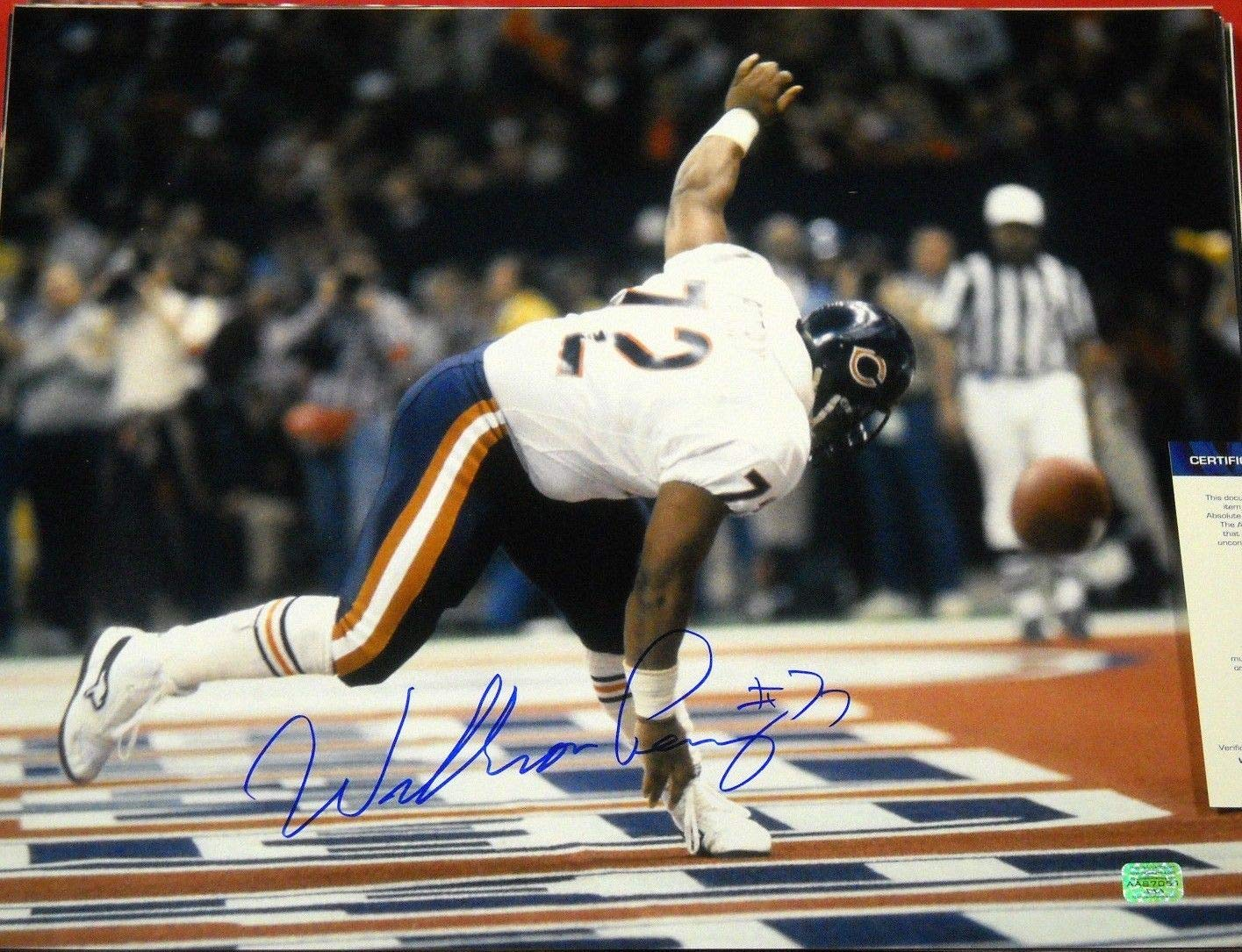 570c94d636d WILLIAM PERRY AUTOGRAPHED CHICAGO BEARS 16X20 PHOTO AASH THE REFRIGERATOR  at Amazon's Sports Collectibles Store