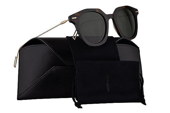 1e357df6740 Christian Dior Homme DiorMaster Sunglasses Havana Gold w Green Lens ...
