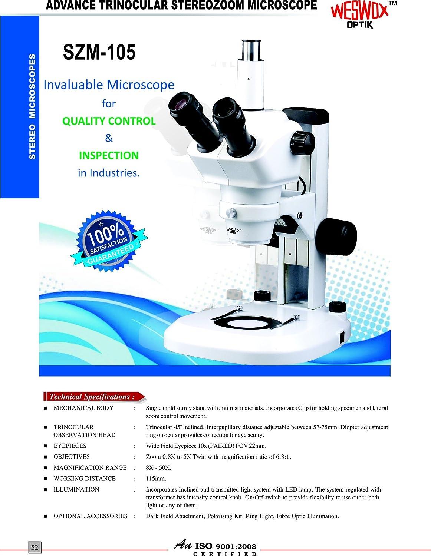 Weswox Advance Stereo Zoom Trinocular Microscope
