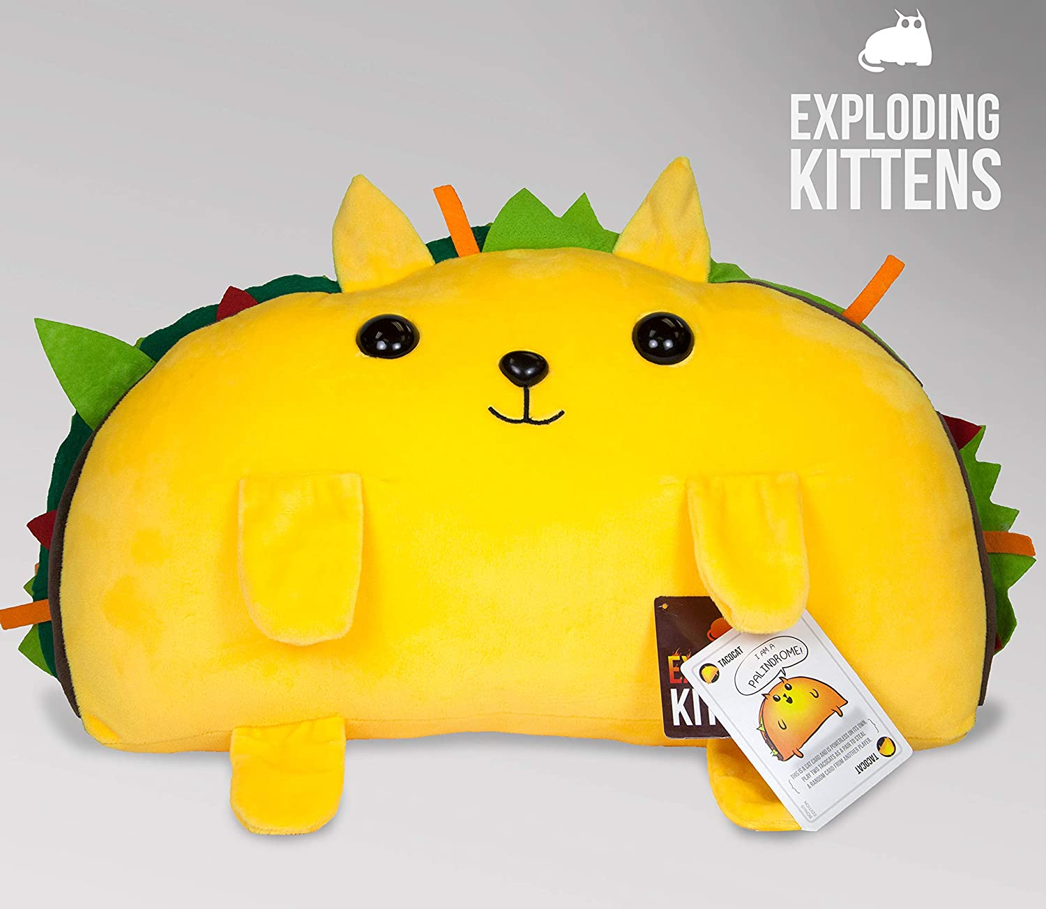 Basic Fun Exploding Kittens Tacocat Jumbo Super Soft Plush