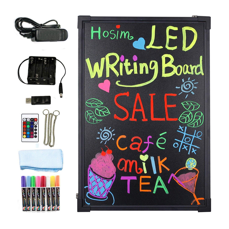 hosim led message writing board 24 x 16 illuminated erasable neon