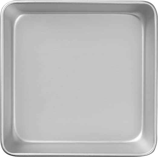 8-Inch Wilton Performance Pans Aluminum Square Cake and Brownie Pan