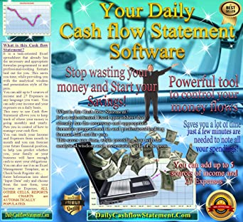 Amazon com: Daily Cash flow Statement spreadsheet [Download