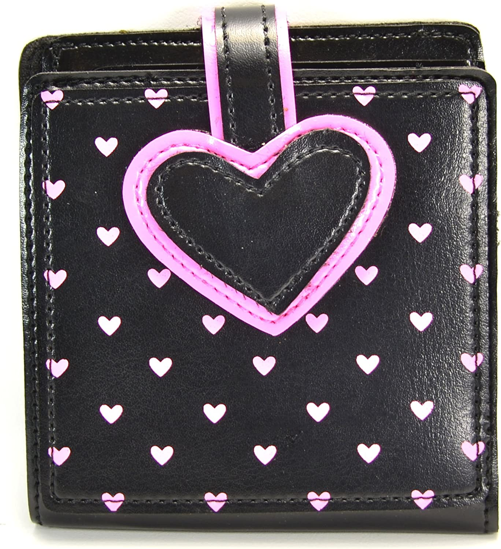 Heart Wallet Valentine Pink Coin Purse Rockabilly Pinup