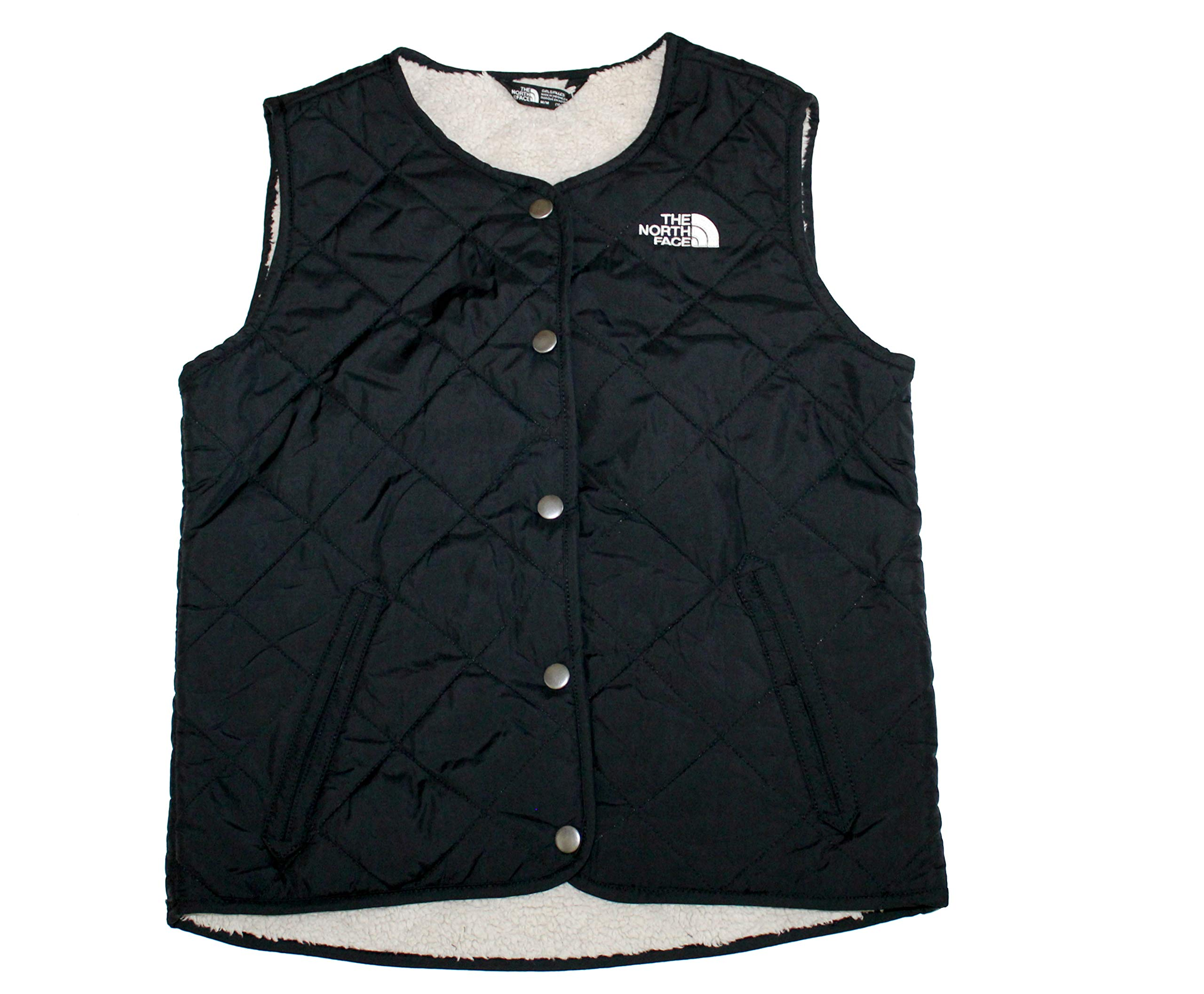 The North Face Youth Girls Fleece Lined Shepra Vest (TNF Black, M 10/12) by The North Face