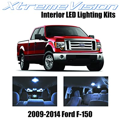 Xtremevision Interior LED for Ford F-150 2009-2014 (12 Pieces) Cool White Interior LED Kit + Installation Tool: Automotive