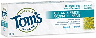 product image for Tom's Of Maine Clean Fresh Fluoride-Free Toothpaste - Fennel Flavour, 85 ml