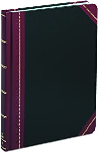 "Boorum & Pease Record Book, 21 Series, Record Ruled, 8-1/8"" x 10-3/8"", 300 Pages (21-300-R),Black/Red"