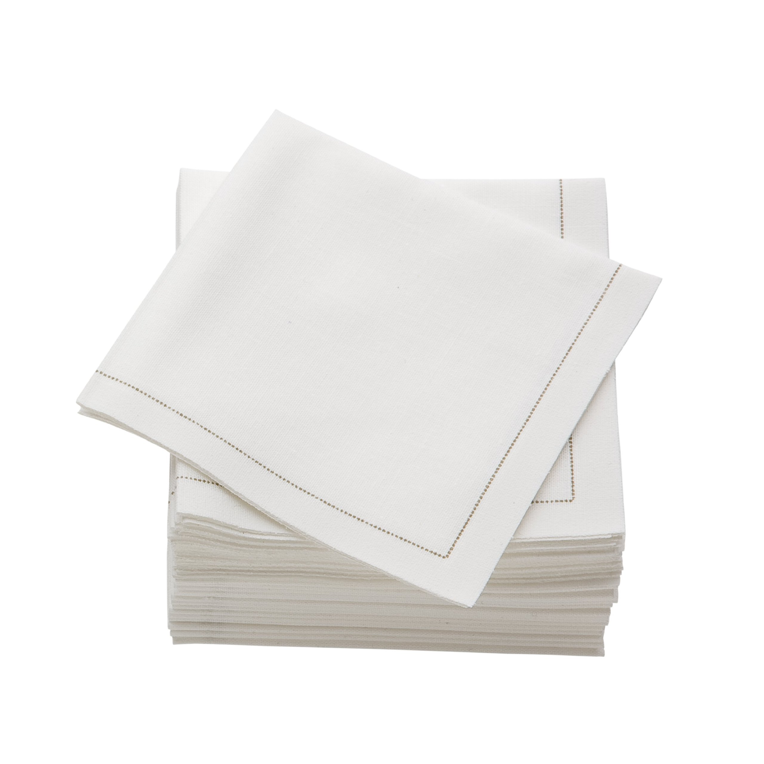 MYdrap SA21/101-5 Pre-folded Cotton Luncheon Napkin, 4.0'' Length x 4.0'' Width, Ecru (Case of 300)