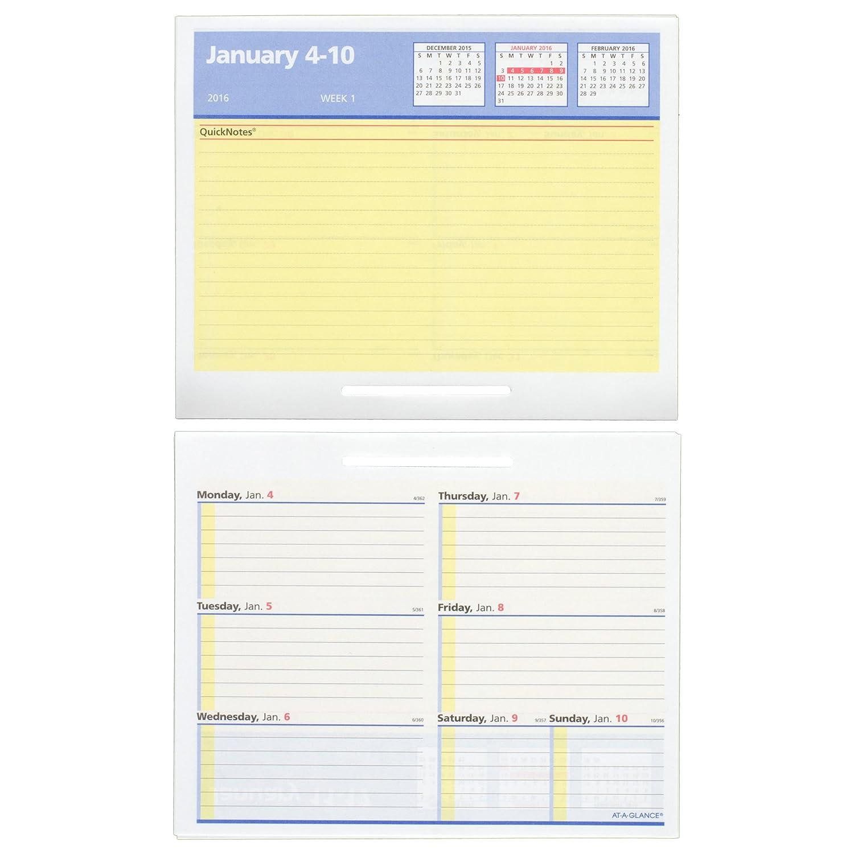 Amazon.com : AT-A-GLANCE Desk Calendar Refill 2016, Burkhart's Day ...