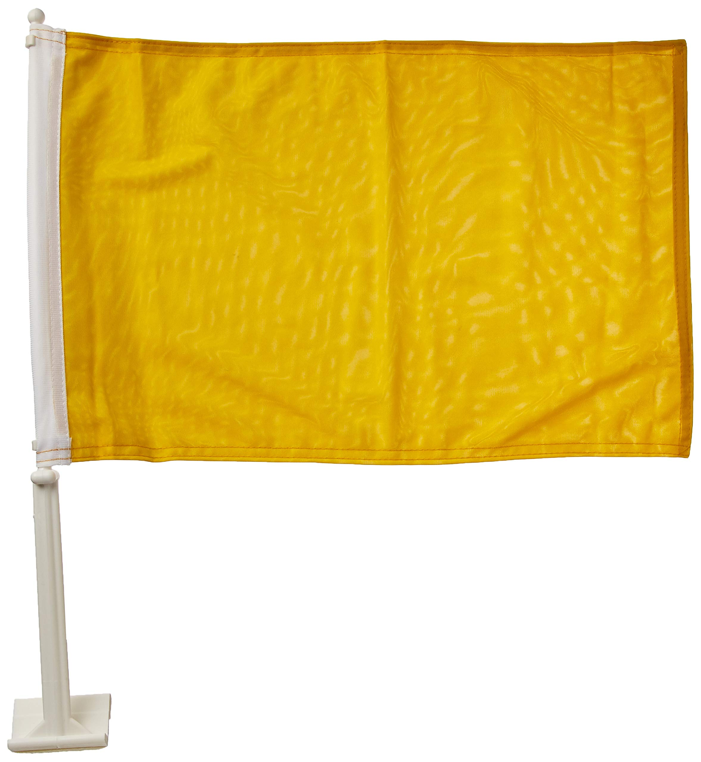 Online Stores Solid Car Flag, Yellow