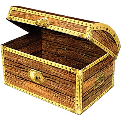 Amazon Com Beistle Home Party Decoration Treasure Chest Box 11 3 4