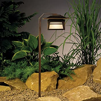 15391OZ Zen Garden 1LT Incandescent/LED Hybrid Low Voltage Landscape Path  And Spread Light,