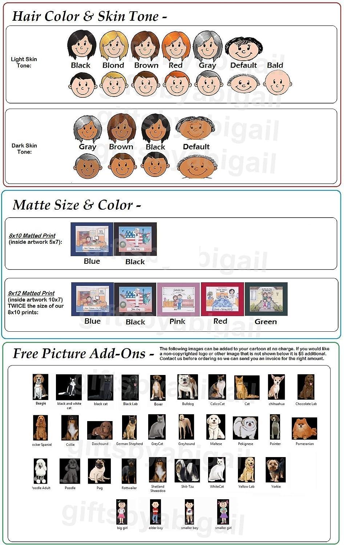 Dentist Personalized Gift Custom Cartoon Print 8x10, 9x12 Magnet or Keychain