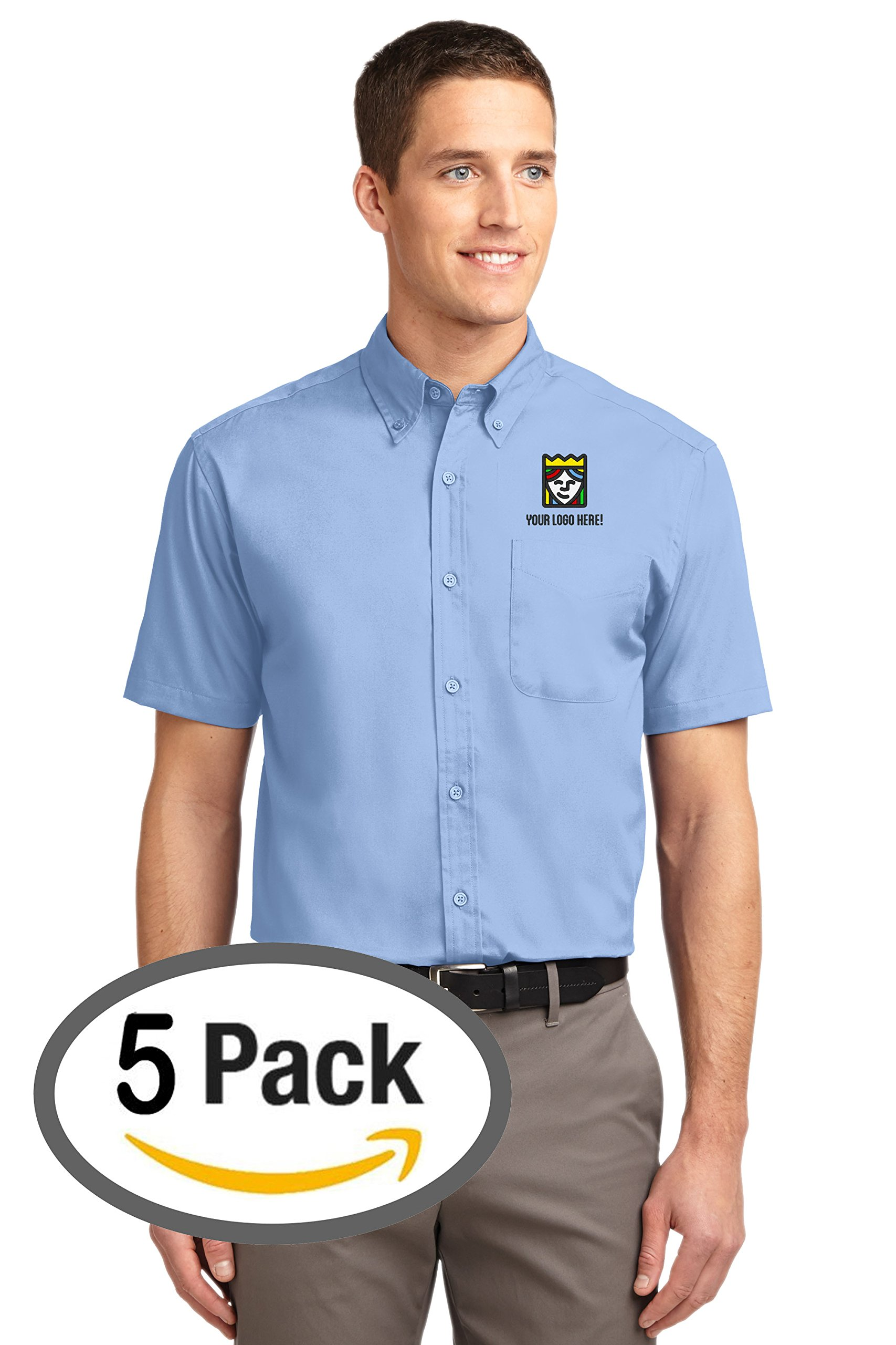 Custom Embroidered Port Authority Easy Care Short Sleeve Shirt – Pack of 5