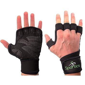 2ff773d599dc Crossfit levantamiento de pesas guantes con muñequera para gimnasio ...