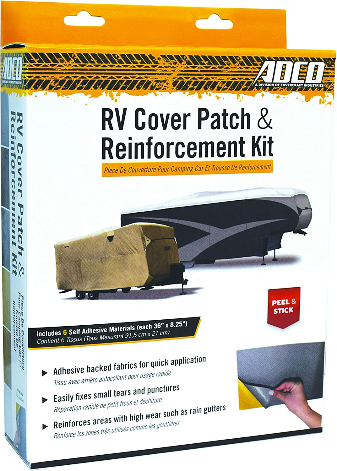 Amazon Com Adco Universal Rv Cover Patch Kit 9023 Automotive
