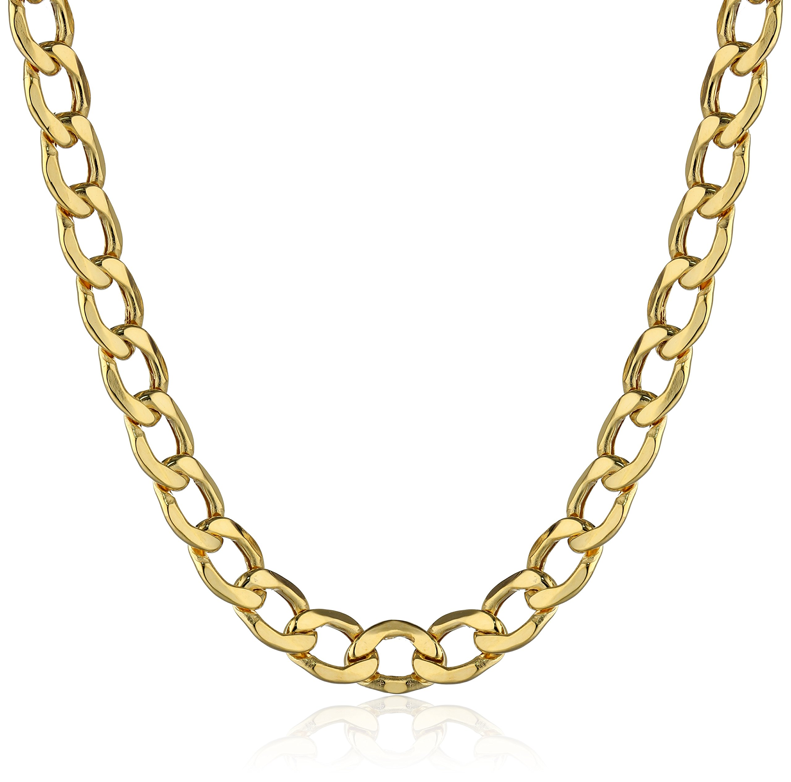 Men's 10k Yellow Gold 5mm Curb Link Chain Necklace