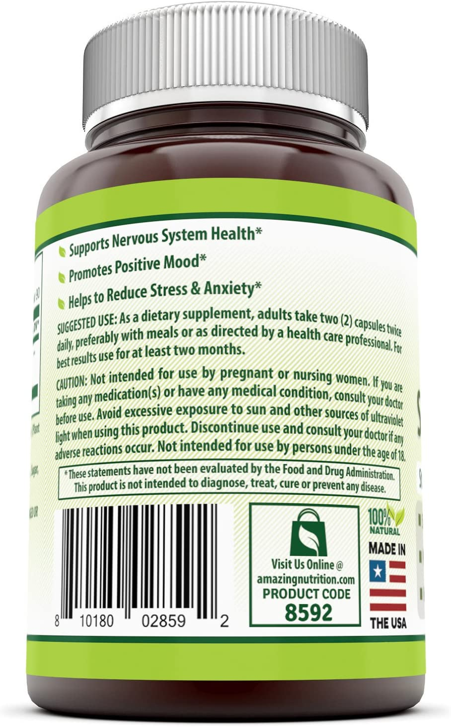 Herbal Secrets St. John's Wort 700 Mg 180 Capsules (Non-GMO) - Supports Feelings of Calm and Relaxation* Helps Maintain a Positive Mood*: Health & Personal Care