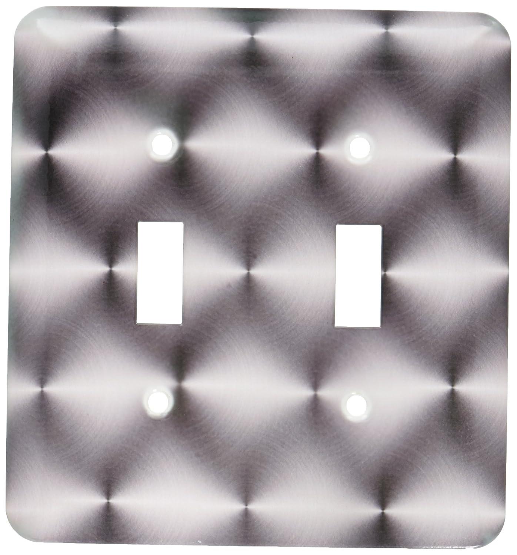 愛用  3drose 155058_ LSP 3drose_ 155058_ 2ステンレス抽象パターンスチール円形つや消しアルミニウムラウンドシルバーダブル切り替えスイッチ B00E8KU4Q8, ヤサカムラ:125a0d40 --- svecha37.ru