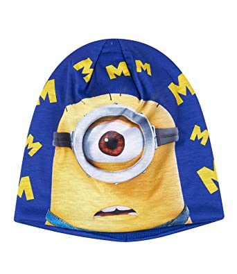 bc1aac6702feae Minions Despicable Me Boys Winter Beanie Knitted Velvet Pom Pom Hat ...