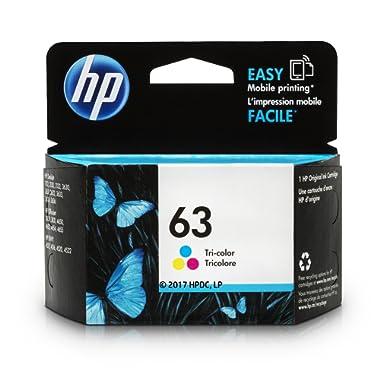 HP 63 Tri-color Original Ink Cartridge (F6U61AN) for HP Deskjet 1112 2130 2132 3630 3632 3633 3634 3636 3637 HP ENVY 4512 4513 4520 4523 4524 HP Officejet 3830 3831 3833 4650 4652 4654 4655