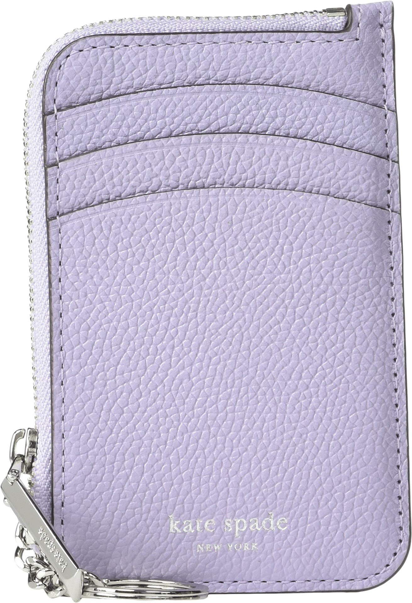 Kate Spade New York Women's Margaux Zip Card Holder, Frozen Lilac, Purple, One Size