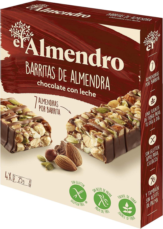El Almendro - Barritas de Almendra y Chocolate con Leche - 4x25 gr ...