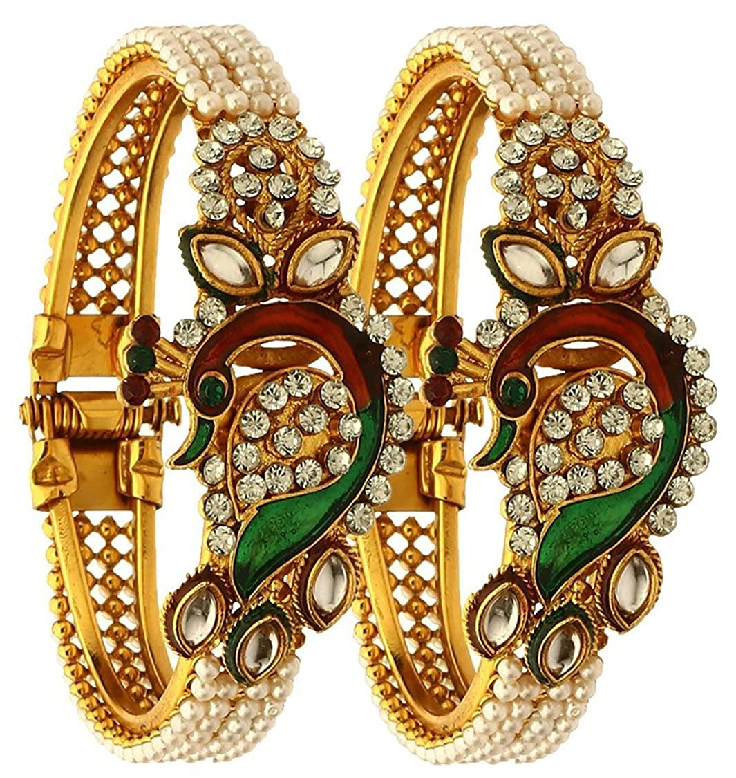 YouBella Gold Plated Cuff for Women (Multi-Colour)(YBBN_91301)