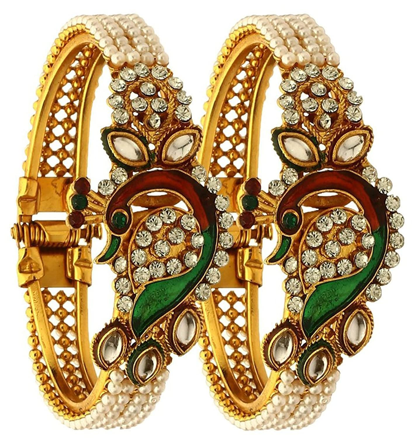 online ybbn youbella colour for bracelets bangles ladies in plated gold women best prices multi cuff buy at b india