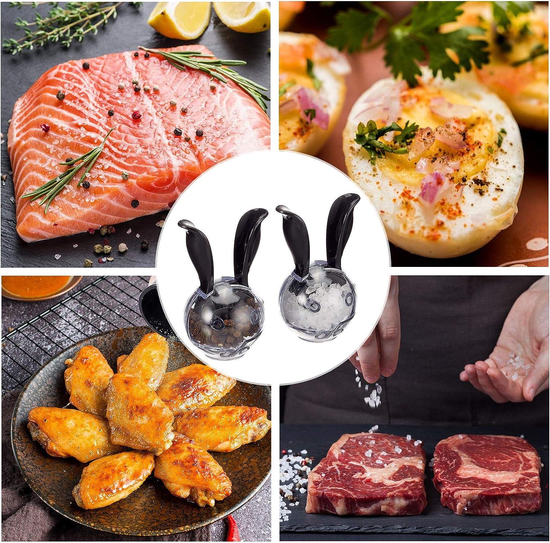 UgyDuky 1 PCS Rabbit Salt /& Pepper Grinder,Multi-Functional Household SaltBall for BBQ Cooking Kitchen