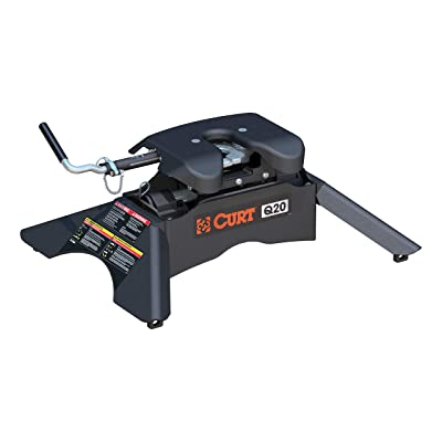 CURT 16130 Black Q20 5th Wheel Hitch, 20,000 lbs