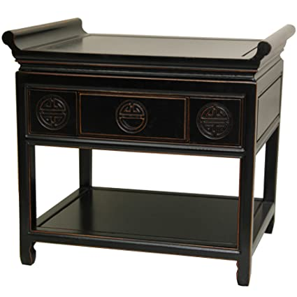 Beau Oriental Furniture 22u0026quot; Rosewood Altar Table   Antique Black