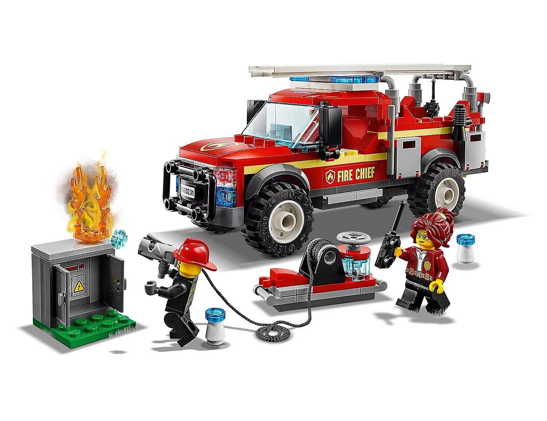 Cami/ón de Intervenci/ón de la Jefa de Bomberos Incluye Minifiguras de los Bomberos LEGO City Town 60231 Veh/ículo de Juguete de construcci/ón para Recrear Aventuras