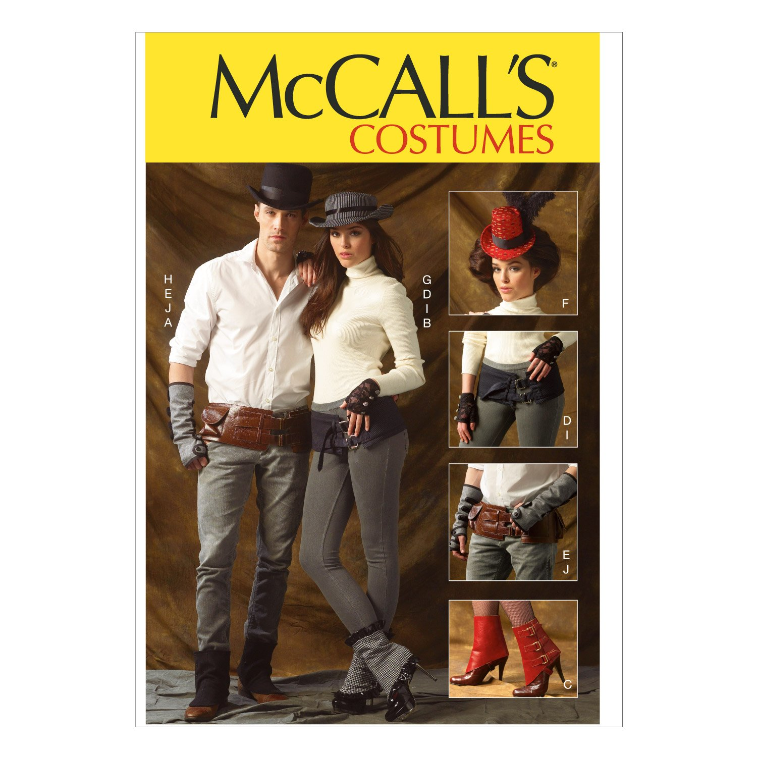 Amazon mccall pattern company m6975 spatsgaitors fingerless amazon mccall pattern company m6975 spatsgaitors fingerless gloves hats and belts one size only arts crafts sewing jeuxipadfo Image collections