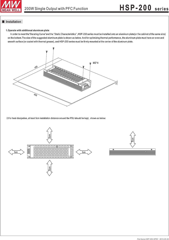 4.2V 40A 1 Output AC//DC Power Supply 168W HSP-200-4.2