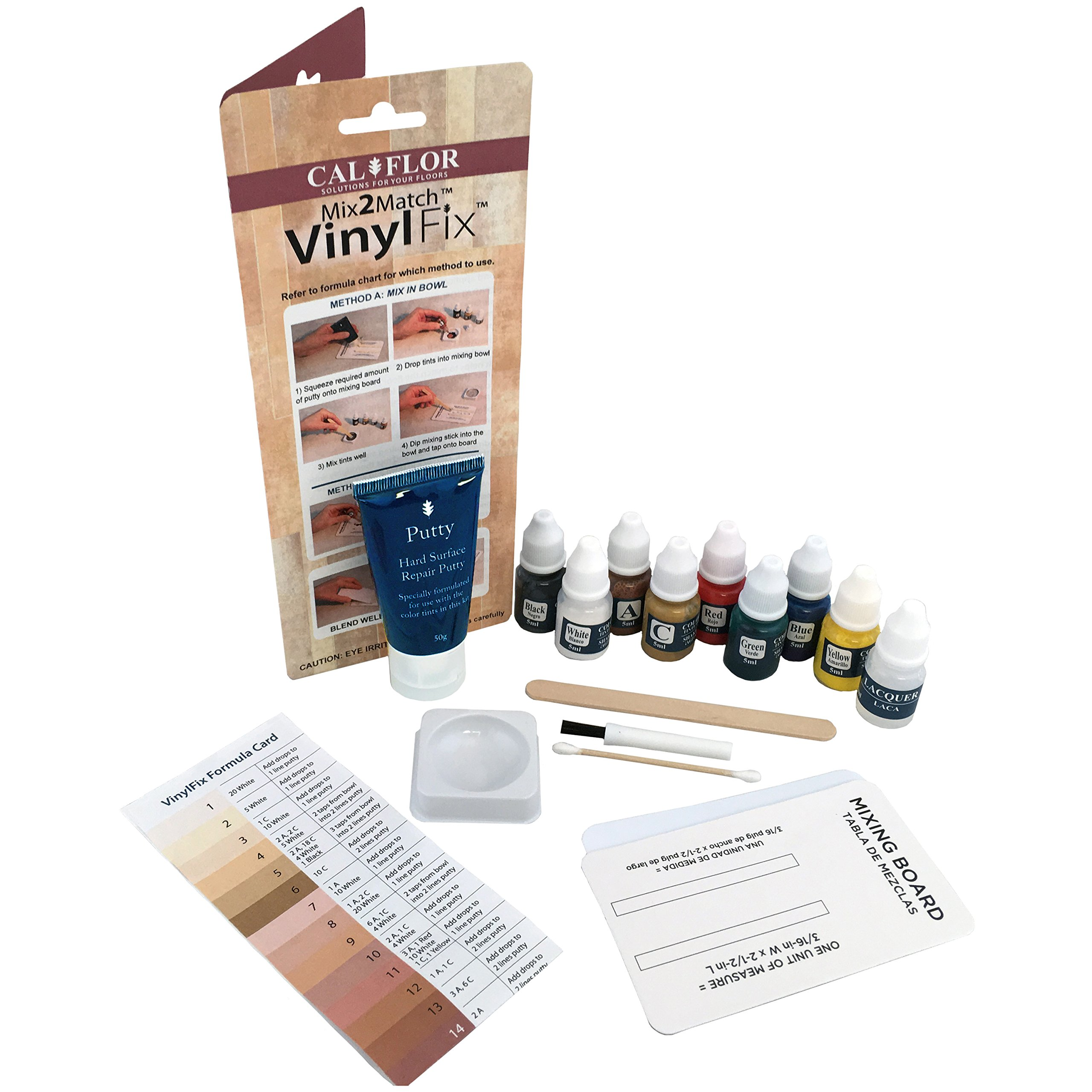 Cal-Flor FL49106CF VinylFix Mix2Match Repair Kit
