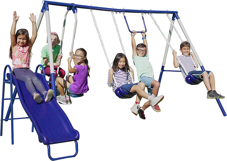 Recreation Play Metal Swing Set Playground Playground Outdoor Outdoor Activity